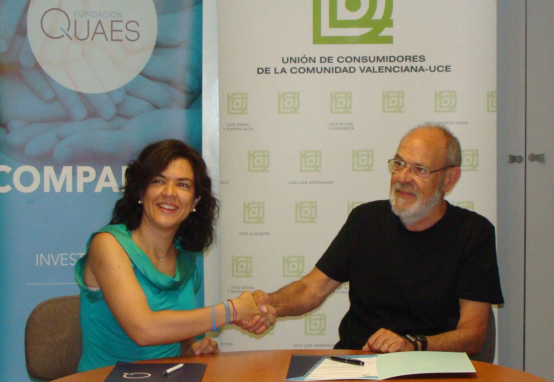La Unión de Consumidores de la Comunitat Valenciana (UCCV) y la Fundación QUAES han firmado un acuerdo de colaboración entre las dos entidades