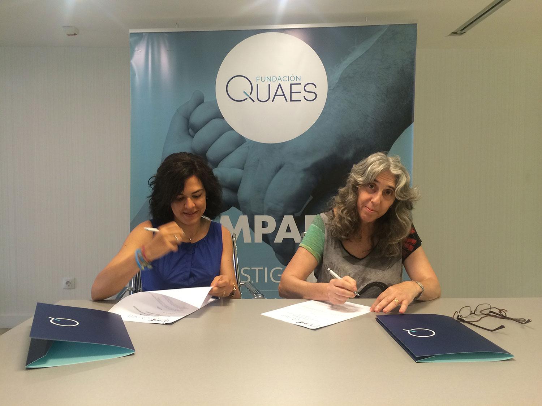 AVAFI firma su convenio con la Fundación QUAES para dar a conocer la fibromialgia