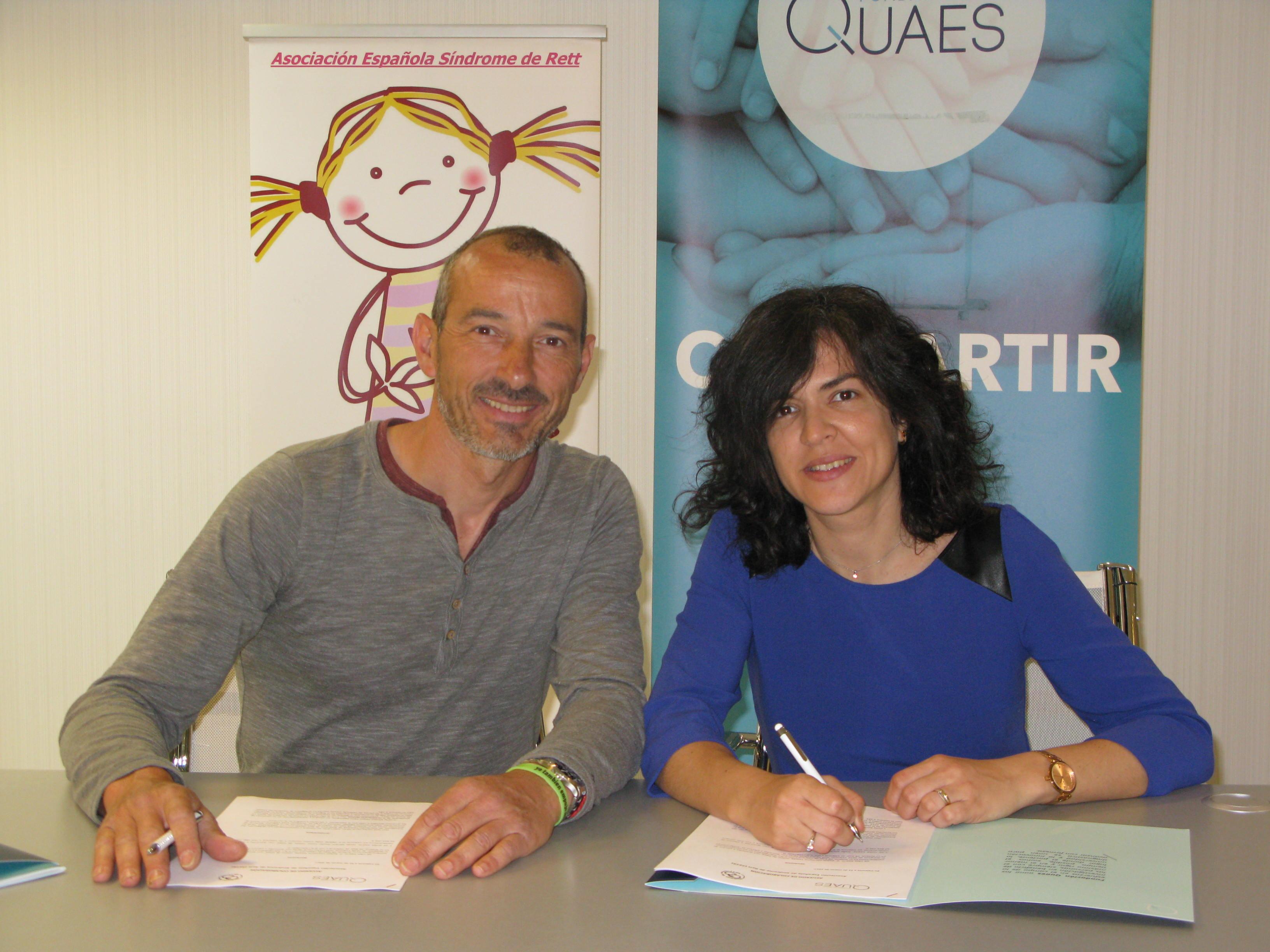 Firma del Convenio entre QUAES y la Asociación Síndrome de Rett